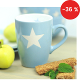 Porcelánový hrnek Light blue stars 330 ml