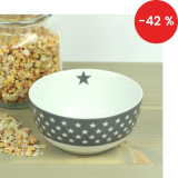 Porcelánová miska Dark grey stars 600 ml
