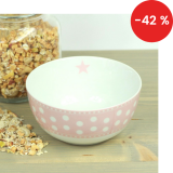 Porcelánová miska Pink dots 600 ml