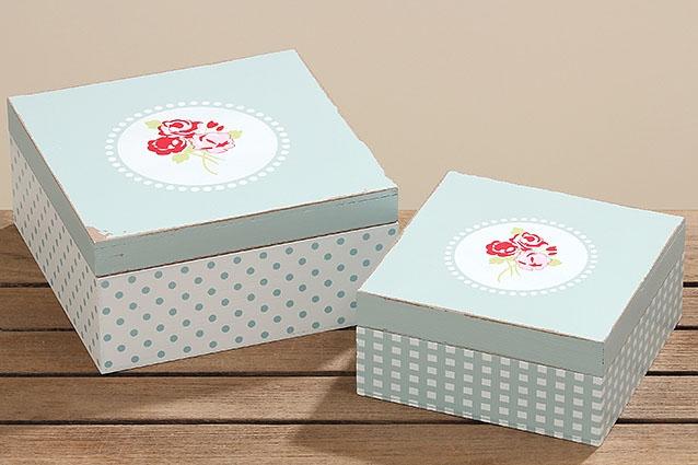 c20d79338 Dřevěný úložný box Roses - menší | Bytové doplňky La Almara | Dárky ...