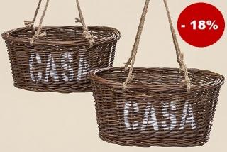 f05a6d2a4b4 Proutěný košík Casa na zavěšení - velký empty