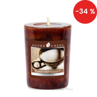 Votivní vonná svíčka Goose Creek Candle Toasty hot toddy 49g