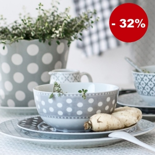 Porcelánová miska Light grey dots 600 ml