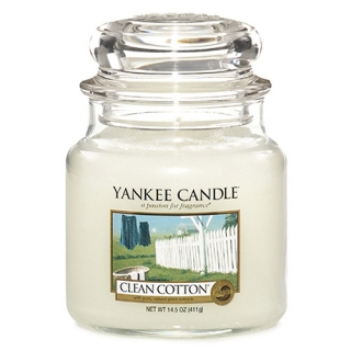 Vonná svíčka Yankee Candle 410 g - Clean cotton
